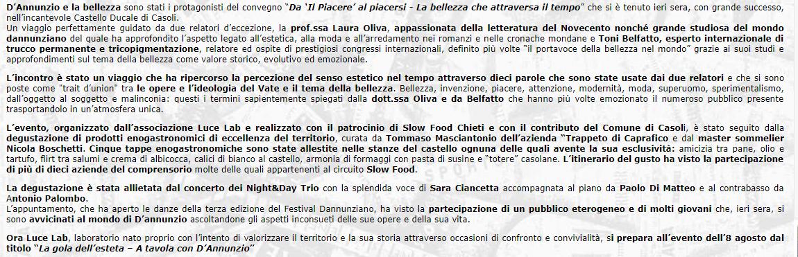 toni belfatto e la bellezza - Casoli: la bellezza Toni Belfatto