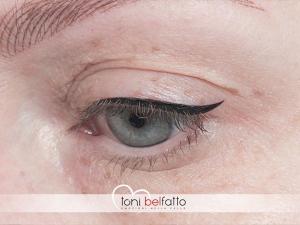 eye liner tatuato
